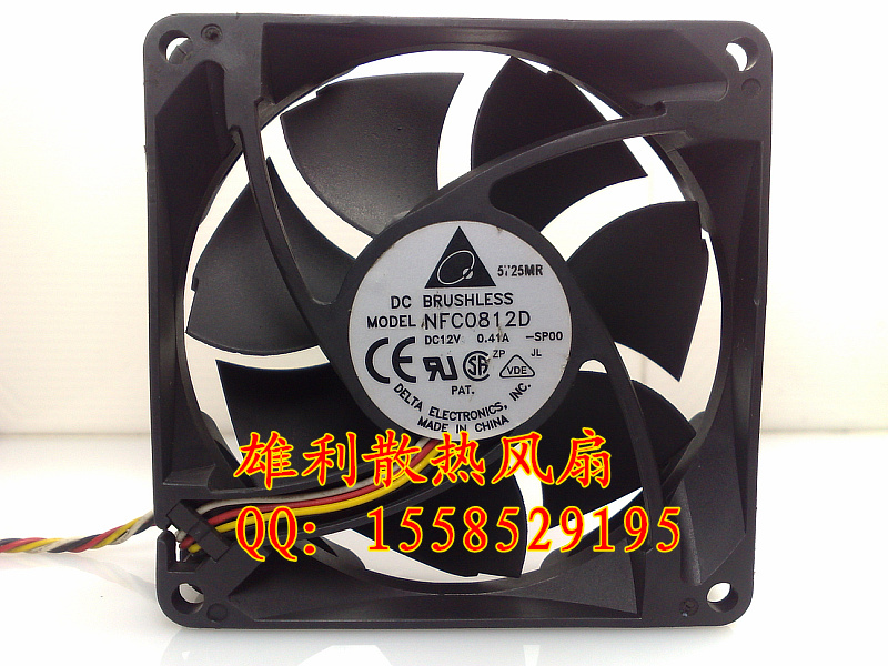 Free delivery.NFC0812D 12V 0.41A 8CM 8025 4-wire PWM dual-ball chassis fan<br>