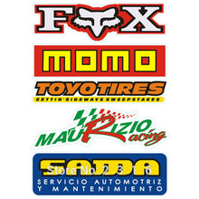 "5PCS Fox Momo mauizio racing toyotires Sama Decal Reflective car stickers 10"" Wide Truck Notebook Die Cut Sticker"