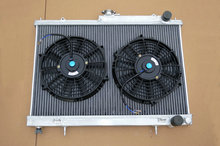 "Factory price 2 ROW for Nissan Skyline R33 R34 GTR GTS-T RB25DET aluminum radiator + 2*10"" Fans 1994-1998(China)"