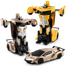 1:12 Transformation Robot Remote Control Racing Car RC Model Car Paw Control Toys Boys Gift(China)