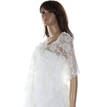 JABS  Women Wedding Bridal Shawl Wrap Cape Shrug Coat Bolero Lace Flower Stylish