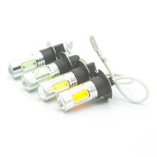 High quality H3 LED 7.5W PK22S  fog light, daytime running light DC12V Red Yellow White Iceblue