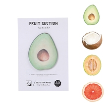 Kawaii Fruit coconut avocado Self-sticky Notes Post It Memo Pad School Supplies Planner Stickers Paper Bookmarks Cute Stationery
