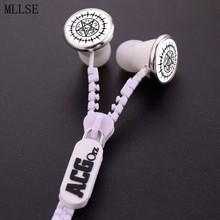 MLLSE Anime Black Butler Ciel Phantomhive Logo Zipper Earphone Wired Stereo In-ear Earbuds Earphones Headset for Iphone Samsung
