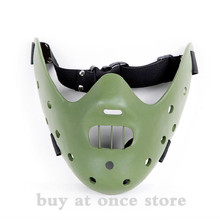 Halloween movie props The silence of the lambs Hannibal lecter mask resin handicraft