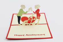 Happy Anniversary card /3D  card  pop up card/anniversary invitation customize Free shipping