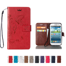 pu leather phone case For Samsung Galaxy Grand Duos GT I9082 i9080 Grand Neo Plus i9060i 9060 painted Butterfly wallet cover bag