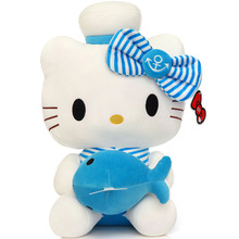 50CM Top Quality Cheap Hello Kitty plush toys for children kids baby toy lively lovely doll hello kitty toy gifts(China)