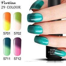 Verntion Nail Polish Gel Foil UV Soak Off Temperature Change Nail Polish Gel Varnish Long Lasting Led Lamp Gel Lacquer