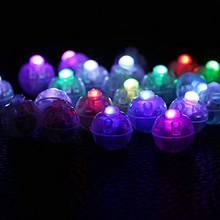 100 Pcs/lot Round Led RGB Flash Ball Lamps Balloon Lights for Lantern Wedding Party Decoration 2016 New For Halloween Christmas(China)