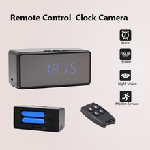 Wifi IP Mini Clock Camera 1080P 720P H.264 Mini Camera Alarm Setting Table Clock Camera Infrared Night Vision Mini DV DVR Cam(China)