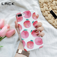LACK Cute Juicy Peach Phone Case For iphone 6 Case Summer Delicious Fruit Cartoon Hard PC Cover For iphone 6 6S Plus Coque HOT
