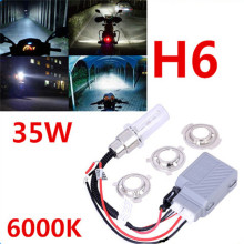 H6 35W motorcycle xenon hid kit slim ballast  6000K bi motorcycle hid headlight universal  hid lights ballast lamp 12V Auto