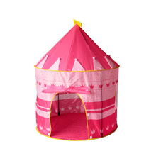 Play Tent Portable Foldable Tipi Prince Folding Tent Children Boy Castle Cubby Play House Kids Gifts Outdoor Toy tents