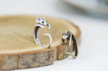 Min 1PC Mouse Ring Antique Silver Cute Wrap Ring Jewelry Weddings  Birthdays Bridesmaids And More Handmade Gift