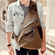 High Quality Canvas Men Cross Body Messenger Shoulder Bag Laptop School Book Travel Trend Climb single Chest Day Back Pack