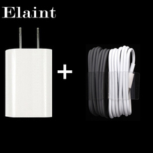 2016 5V 1A Travel EU/US Plug USB wall Charger Adapter Power + 1M USB sync data Charging Cable for apple iPhone 4 4s 3G 3GS SUITS