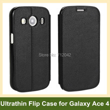 New Ultrathin PU Leather Flip Cover Phone Case for Samsung Galaxy Ace 4 LTE G357/SM-G313F Free Shipping(China)