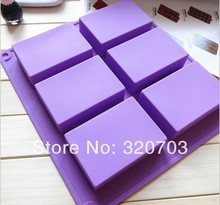 Long Square Shape Big Size Silicone cake mould handmade soap mould rectangular die 8*5.5*2.5CM 100ml D041(China)