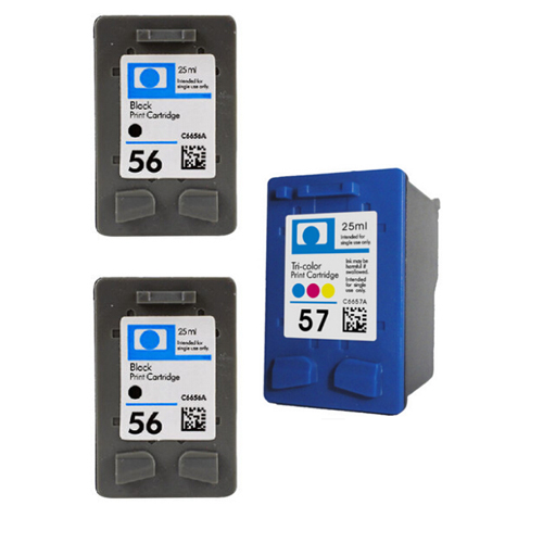 Compatible Ink Cartridges for HP 56 57 For HP D1368 D1468 D2360 D2368 3538 3558 3658 Printer ink<br><br>Aliexpress