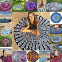 Hot Indian Mandala Round Tapestry Wall Hanging Boho Beach Throw Towel Yoga Mat Bedspread Table Cloth DIY Art Home Decor 150CM