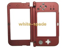2015 New Version For Nintendo New 3DS XL Replacement Hinge Middle Shell Top and Bottom shell with joystick cap red
