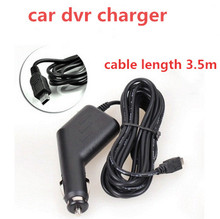 factory price  Car Charger Power Adapter cable 3.5m  For car dvr camera GPS Hot Sale Auto Accessory Black