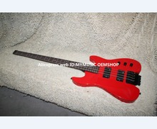 Best Selling RED 4 strings NO Head Electric Bass High Quality Headless bass free shipping
