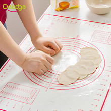 Delidge 1 pc Non-Stick Silicone Baking Liner 2 Size Soft  Kneading Dough Mat Bakeware Mat Silpat Silicone Rolling Pastry Mats