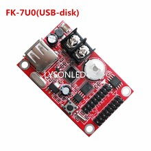 LYSONLED Special Offer FK-7U0 USB-disk Port Single and Dual Color LED Display Controller,Max 1024*32 P10 Monochrome LED Module