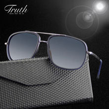 TRUTH aviator sunglasses men women polarized acetate flex hinge luxury sunglasses men brand in case lunettes de soleil homme