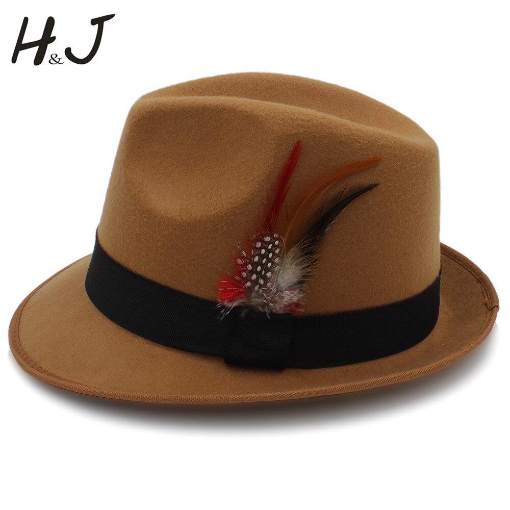 Модная женская и мужская фетровая шляпа для зимы осени шерсть хомбергская джаз
