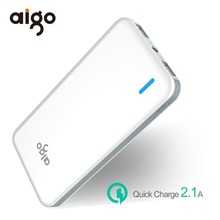Buy Aigo 10000mAh Power Bank LED Light Powerbank Ultra Slim Portable External Battery Poverbank Iphone 6 6S 7 8 X Xiaomi for $19.03 in AliExpress store