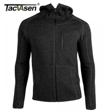 TACVASEN 2016 Men Tactical Wool Hooded Sweatshirt Military Army Body Slim Warm Woolen Fleece Wool Hoodies Knitted Jacket Coat(China)