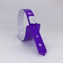 50pcs Neon Purple Cheap plastic event vinyl wristband bracelet for ticket festival(China)