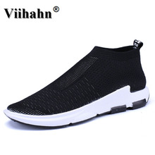 Viihahn Men's Sports Shoes Summer Breathable Running Shoes Sneakers Walking Athletic Slip On Mesh Shoe loafers Flats