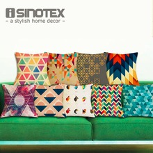 ISINOTEX Geometric Cushion Cover Cushions Linen Creative Pillow Case For Living Room Bed Room 43*43cm 1 PCS/lot