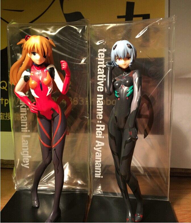 Anime 2pcs/set EVA Neon Genesis Evangelion Ayanami Rei Soryu Asuka Langley Action Figures PVC brinquedos Collection Figures toys<br>