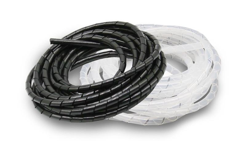 Flexible Cord Cable Wire Organizer Wraps Management Hiding gray 1.5cm Dia