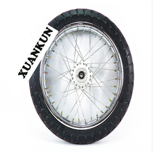 XUANKUN CG125 Motorcycle Parts Modified Road Tire Tire 185-17 Front Wheel Assembly(China)
