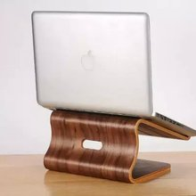 Samdi wooden laptop cooling stand high quality wooden stand for Apple Macbook for HP and other laptop article design stand(China)