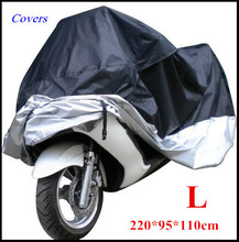 Big Size Motorcycle Cover L Waterproof Outdoor Uv Protector Bike Rain Dustproof, Covers for Motorcycle, Motor Cover Scooter G(China)