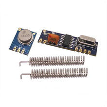10Sets ASK Transceiver Module Kit SRX882 receiver + STX882 transmitter+Spring Antenna  Wireless RF 433MHz/315mhz Module