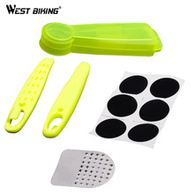 WEST BIKING Bike Portable Fast Tire Repair Tools MTB Bicycle Tire Repair Kits Cycling Pry Bar Grinding Tires Free Tires