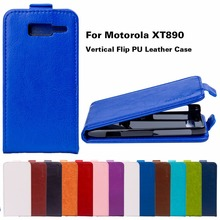 Stylish Retro Flip Leather Mobile Phone Cases For Motorola Moto XT890 RAZR I Cover Vertical Flip Magnetic Holster Back Shell Bag