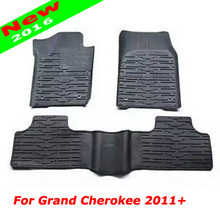 Ups Free Shipping Newest 3 D Original Style Slush Floor Mat Liner Carpets Mats Rubber Black For Jeep Grand Cherokee 2011 Up