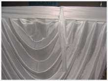 Ice Silk White Swags Applicable To 3m x 6m Backdrop Curtain For Wedding Festival Party Banquet Decoration