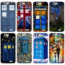 H389 Wolf Doctor Telephone Booth Transparent Hard Thin Skin Case Cover For Huawei P 6 7 8 9 10 Lite Plus Honor 6 7 8 4C 4X G7(China)
