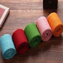 6x300cm 5 Colors Natural Jute Burlap Hessian Cake Ribbon Lace Trims Tape Roll Wedding Party Brithday Festival Anniversary Strap