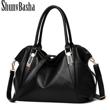 ShunvBasha Women Leather Handbag Retro Vintage Bag Designer Handbags High Quality Famous Brand Tote Shoulder Ladies Hand Bag1101(China)